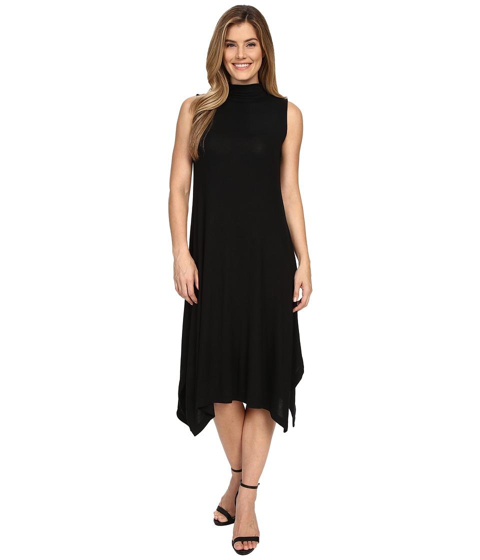 Nally amp Millie Sleeveless Midi Dress w/ Mock Neck Black Womens Dress