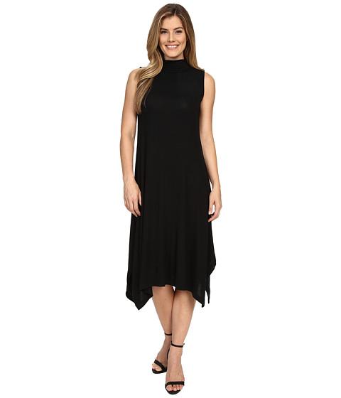 Nally & Millie Sleeveless Midi Dress w/ Mock Neck