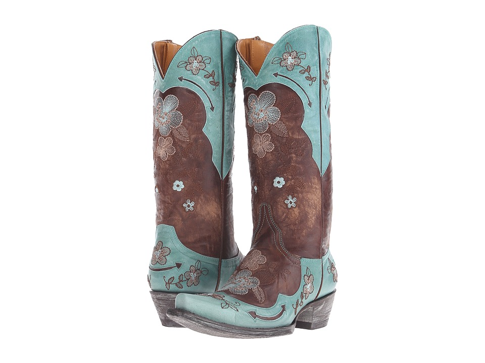 Old Gringo Bonnie 13 Brass/Aqua Cowboy Boots
