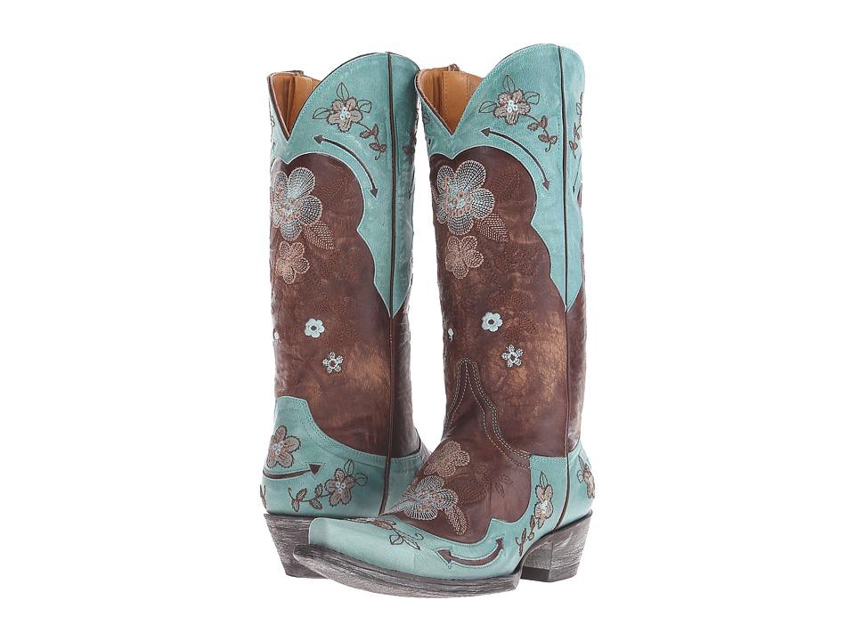 Old Gringo Bonnie 13 (Brass/Aqua) Cowboy Boots