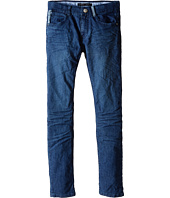 IKKS - Slim Fit Denim Pants with Cargo Print Pocket in Bleu (Little Kids/Big Kids)