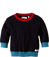 IKKS - Knit Crew Neck Sweater with Contrast Trim (Infant/Toddler)