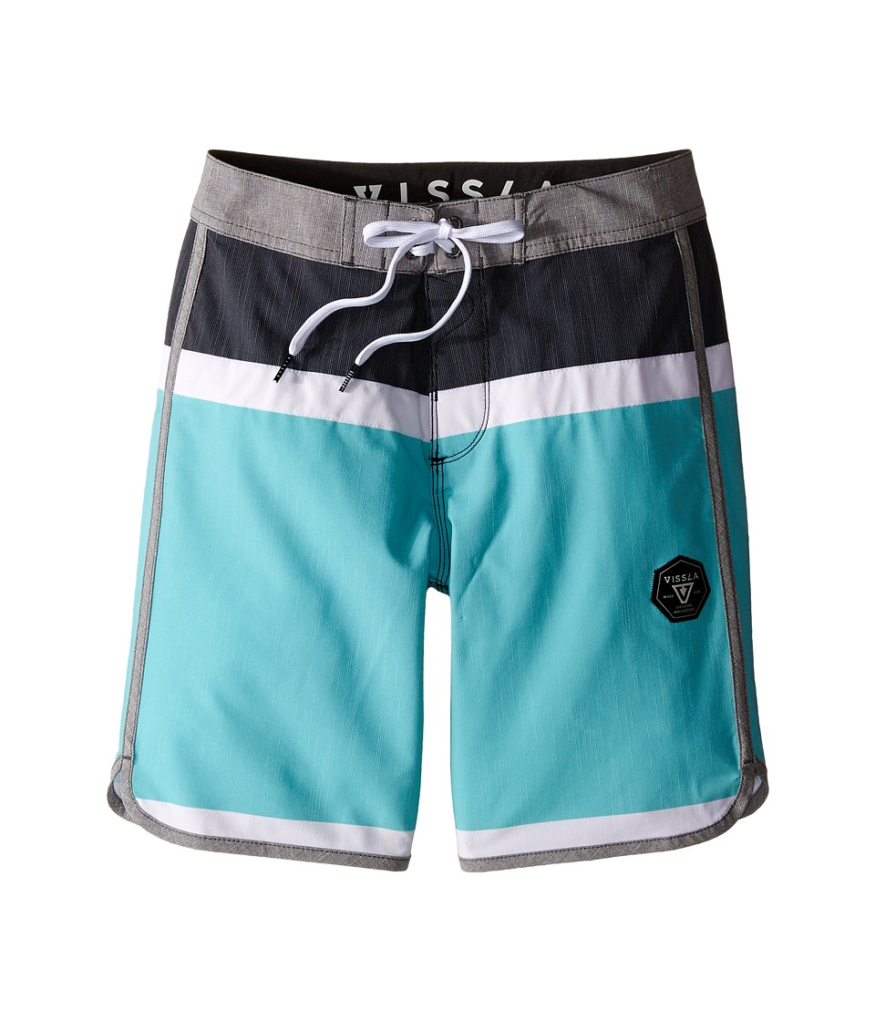 VISSLA Kids Dredges 4 Way Stretch Boardshorts 17 Big Kids Black Boys Swimwear