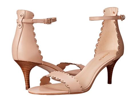 Coach 蔻驰 Monica 优雅花边设计高跟凉鞋,特价仅售 $79.99
