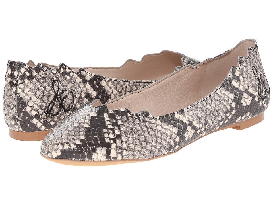 Sam Edelman Augusta Putty Shiny Burmese Python Print Womens Flat Shoes