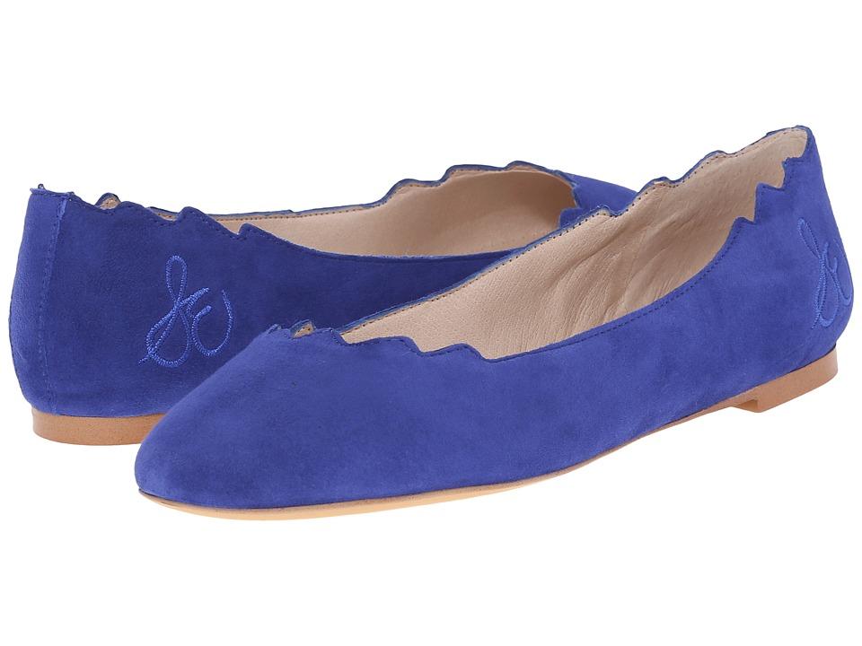 Sam Edelman Augusta Sailor Blue Kid Suede Leather Womens Flat Shoes