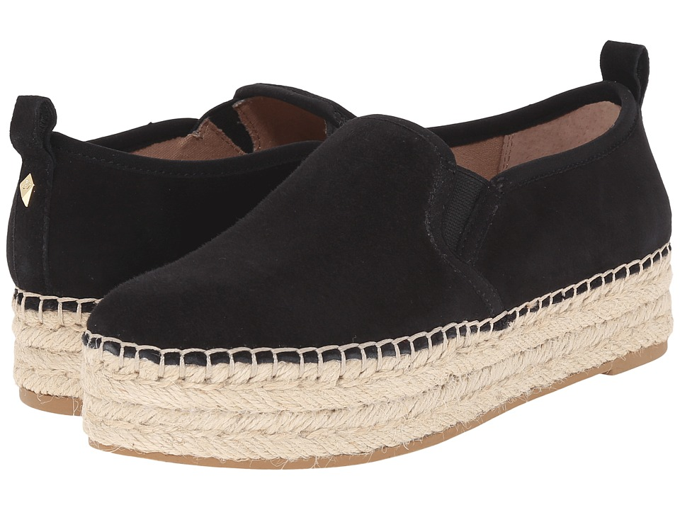Sam Edelman Carrin Black Kid Suede Leather Womens Slip on Shoes