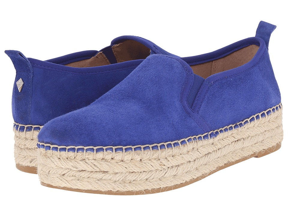 Sam Edelman Carrin Sailor Blue Kid Suede Leather Womens Slip on Shoes