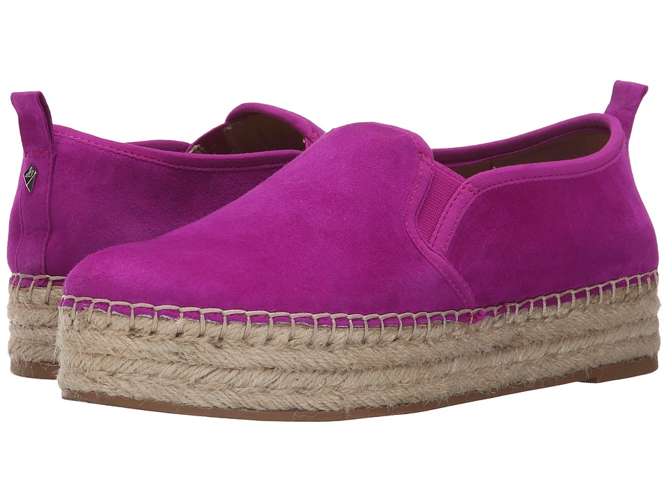 Sam Edelman Carrin Pop Fuchsia Kid Suede Leather Womens Slip on Shoes