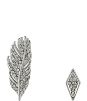 Rebecca Minkoff - Feather Ear Climber Mismatch Earrings