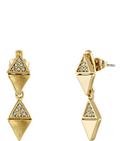 Rebecca Minkoff - Triangle Drop Front to Back Earrings