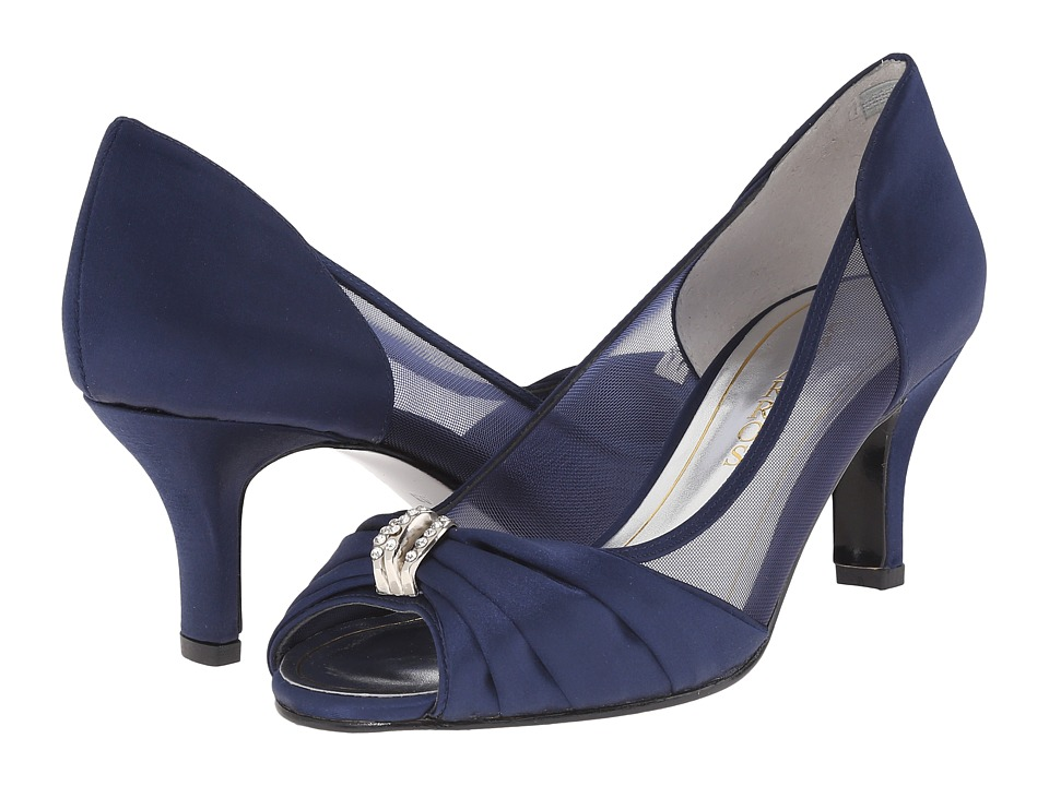 Caparros Blanche Navy Satin Womens Shoes
