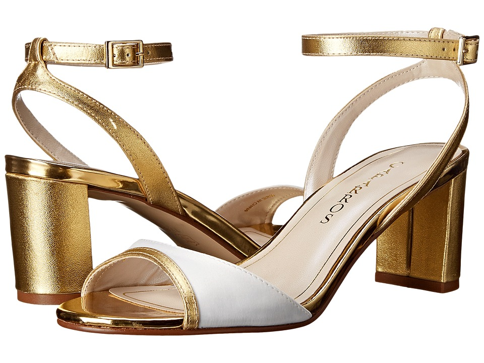 Caparros Belize Ivory/Gold Sateen Womens Shoes