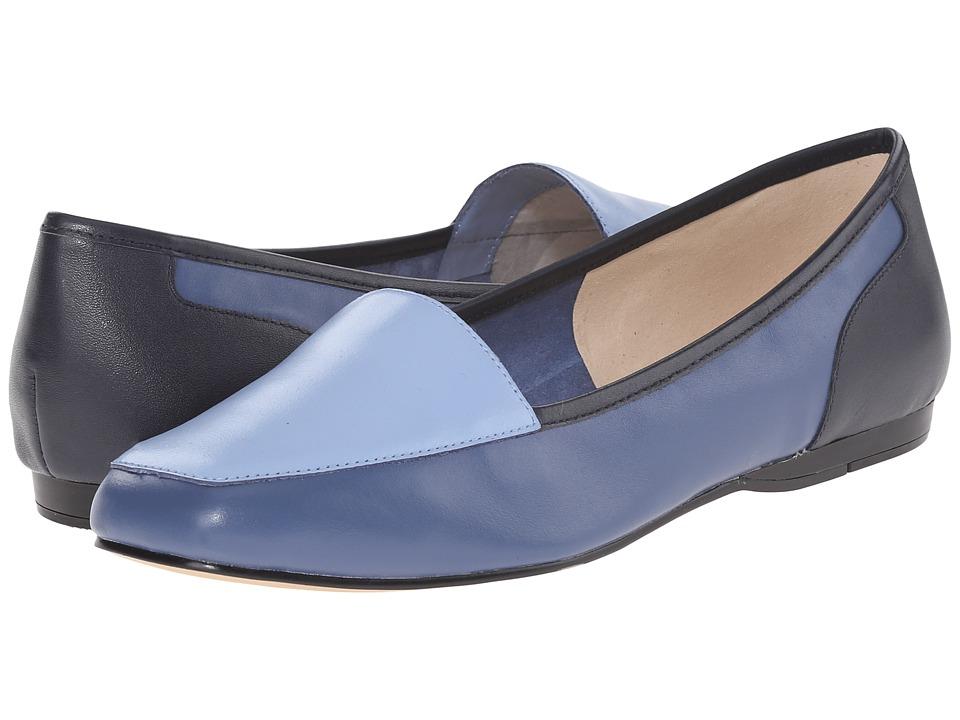 Bandolino Liberty Blue Multi Leather Womens Slip on Shoes