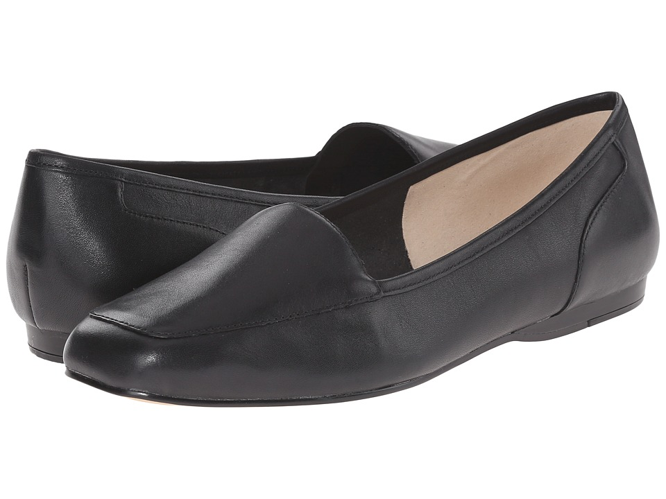 Bandolino - Liberty (Black Leather) Womens Slip on  Shoes