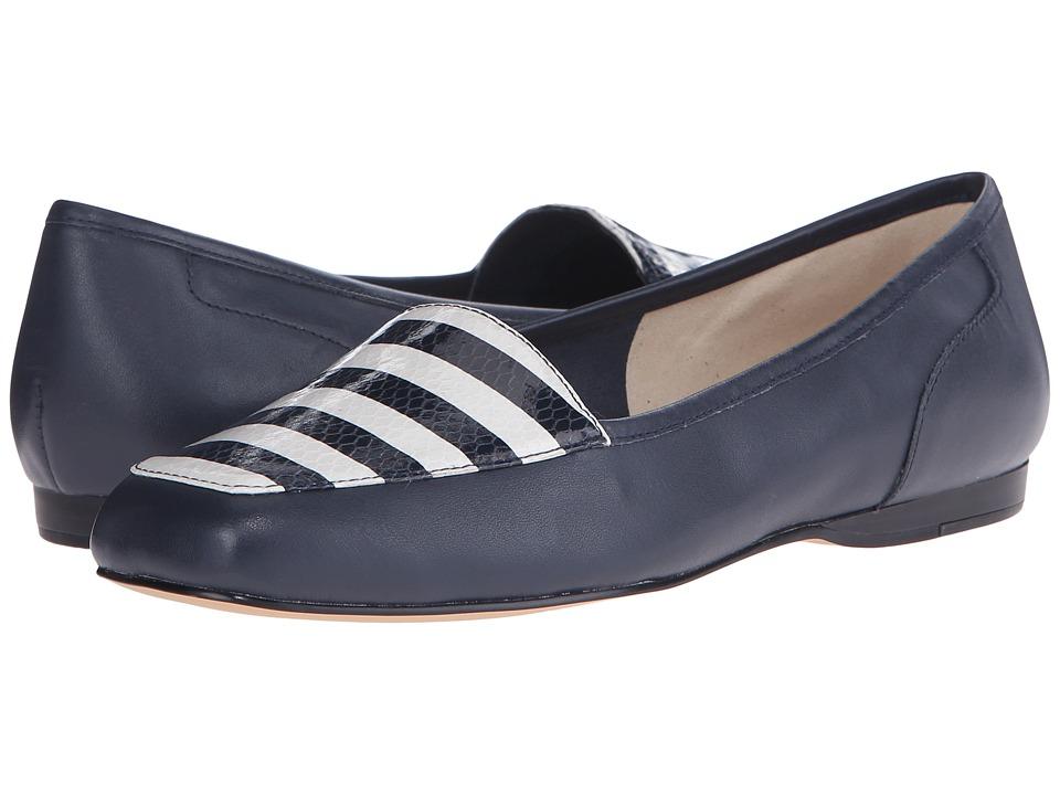 Bandolino Liberty Navy Multi Leather Womens Slip on Shoes