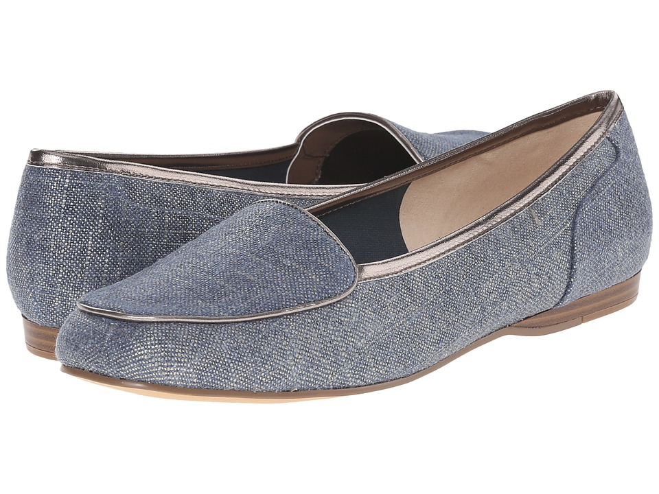 Bandolino Liberty Dark Blue/Taupe Fabric Womens Slip on Shoes
