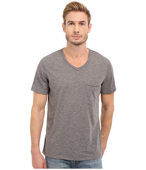 7 For All Mankind Short Sleeve Raw V-Neck
