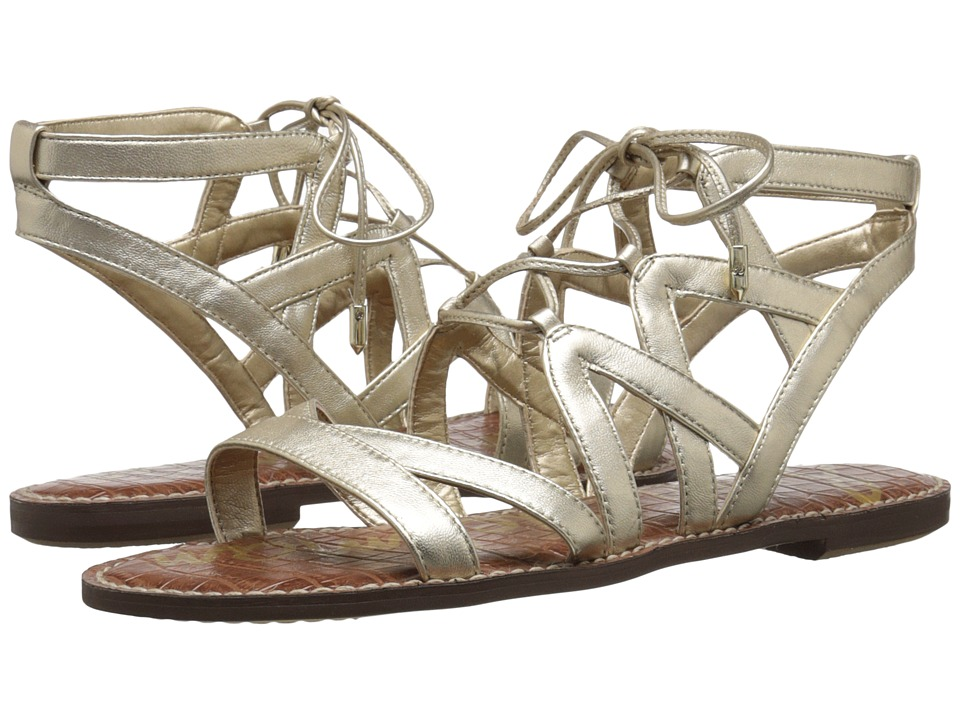 Sam Edelman Gemma Jute Soft Metallic Sheep Leather Womens Sandals