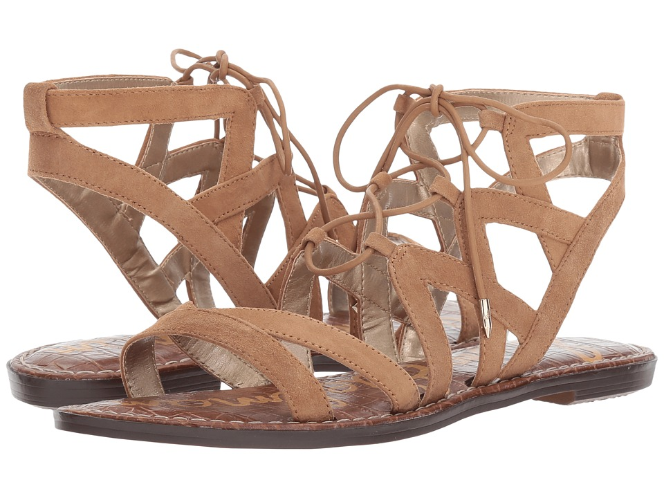 Sam Edelman Gemma Golden Caramel Kid Suede Leather Womens Sandals