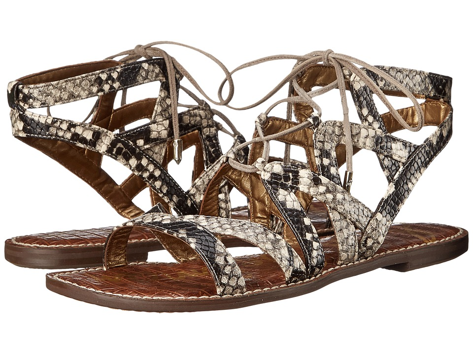Sam Edelman Gemma Putty Shiny Burmese Python Print Womens Sandals