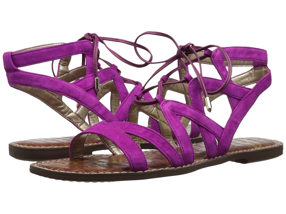 Sam Edelman Gemma Pop Fuchsia Kid Suede Leather Womens Sandals
