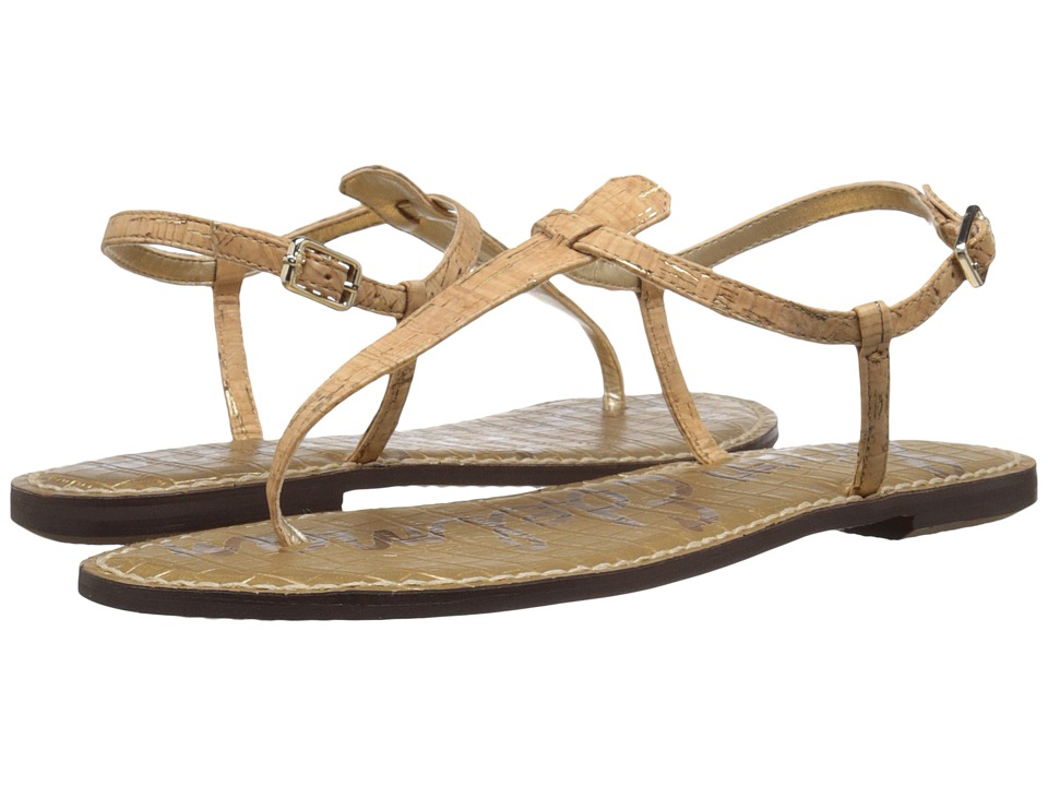 Sam Edelman Gigi (Natural/Gold Metallic Flec Cork) Sandals