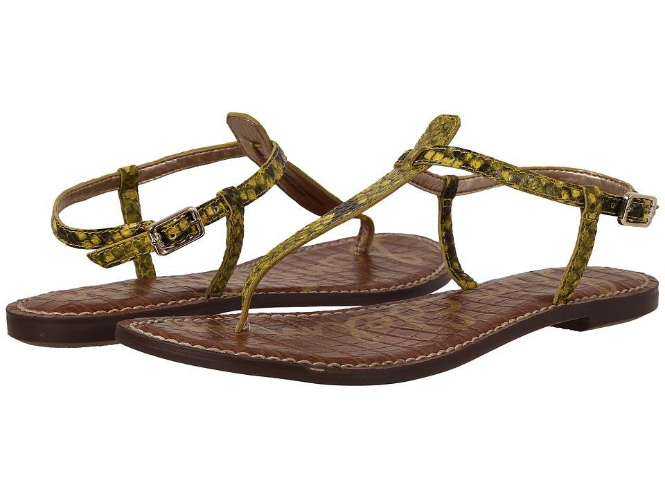 Sam Edelman Gigi (Chartreuse Glow Shiny Burmese Python Print) Sandals