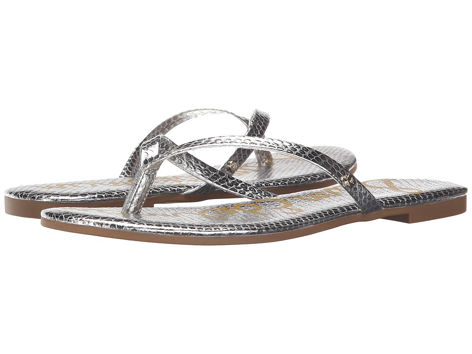Sam Edelman Oliver Soft Silver Bomber Iguana Crom Womens Sandals