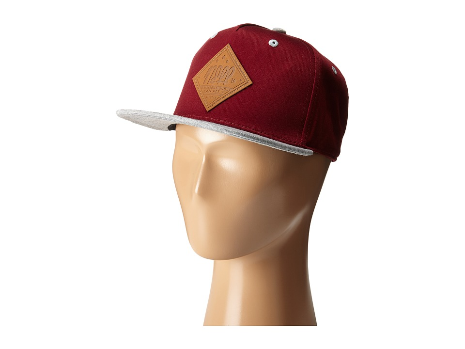 Neff All Day Cap Youth Maroon Caps