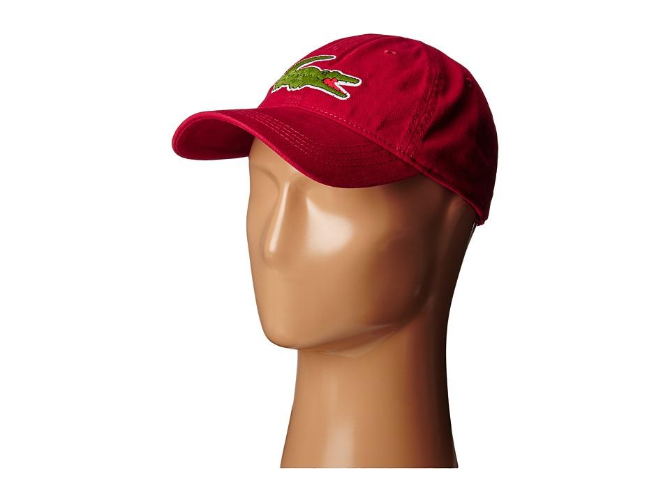 Lacoste Big Croc Gabardine Cap Bordeaux Baseball Caps