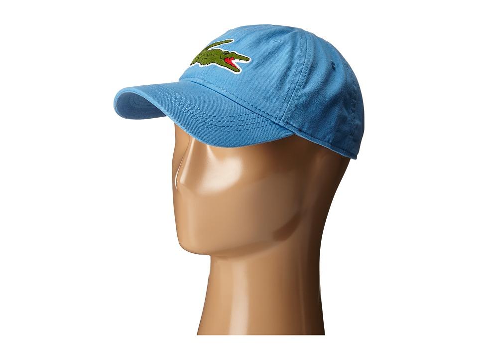 Lacoste Big Croc Gabardine Cap Spa Blue Baseball Caps