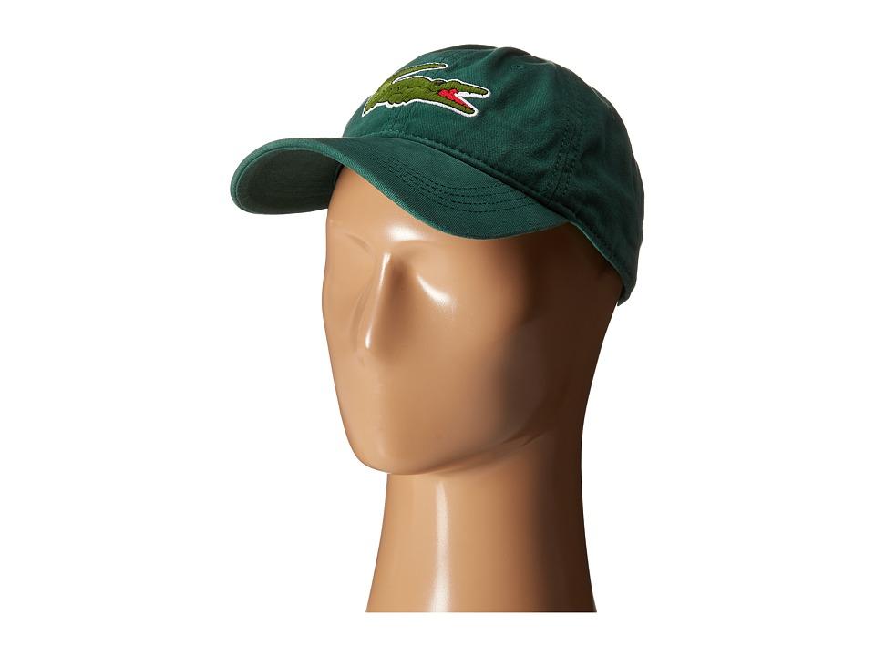 Lacoste Big Croc Gabardine Cap Pine Wood Baseball Caps