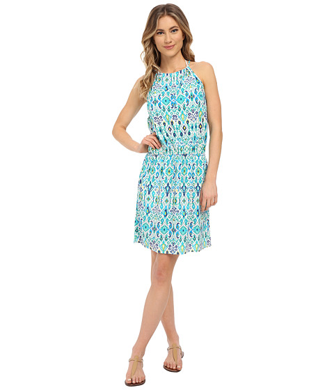 Tommy Bahama Ikat High Neck Short Dress Cover-Up
