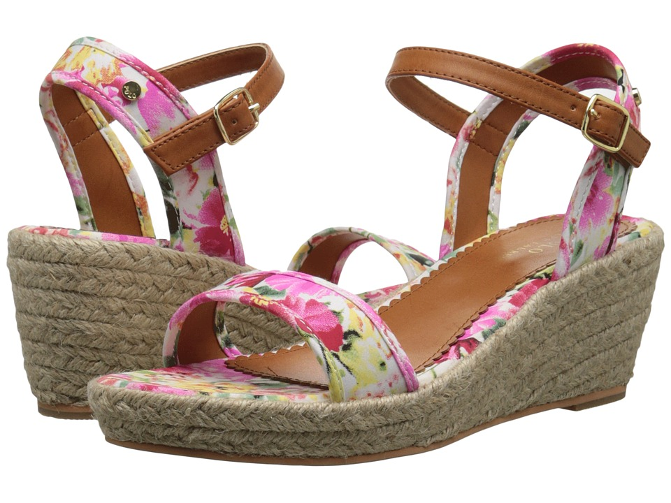 Polo Ralph Lauren Kids Carmen (Little Kid/Big Kid) (Pink Floral/Jute) Girl's Shoes
