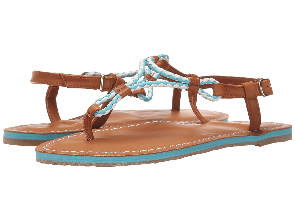 Polo Ralph Lauren Kids Alexis Little Kid/Big Kid Neon Turquoise Eva/Braided Thong Girls Shoes