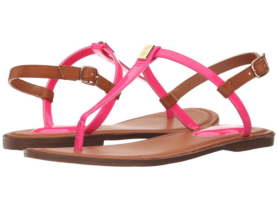 Polo Ralph Lauren Kids Gala Little Kid/Big Kid Pink Patent/Gold Girls Shoes