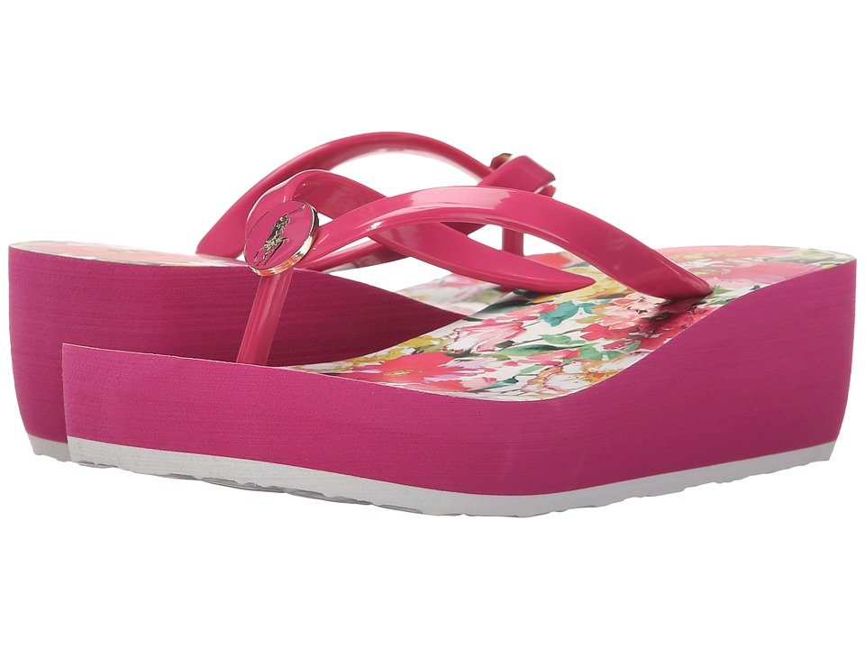 Polo Ralph Lauren Kids Borolla II Little Kid/Big Kid Ultra Pink/Pink Floral/Ultra Pink Eva Girls Shoes