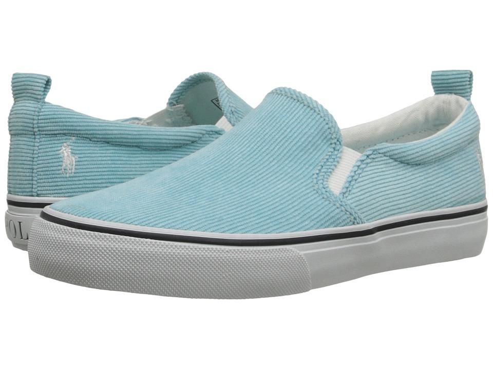 Polo Ralph Lauren Kids Carlee Twin Gore Little Kid/Big Kid Neon Turquoise Corduroy Girls Shoes