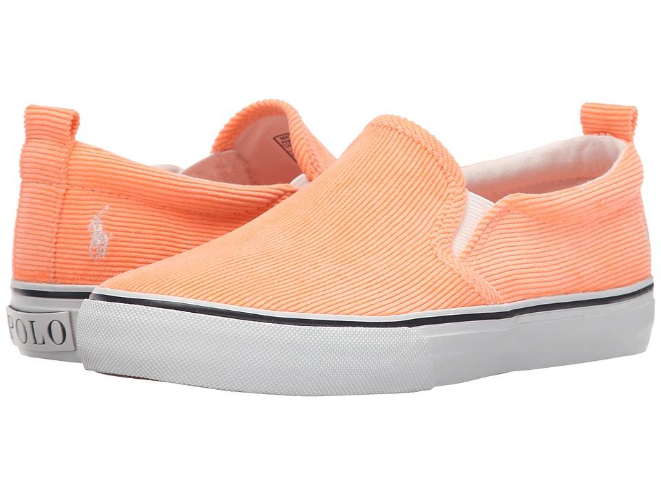 Polo Ralph Lauren Kids Carlee Twin Gore Little Kid/Big Kid Neon Melon Corduroy Girls Shoes