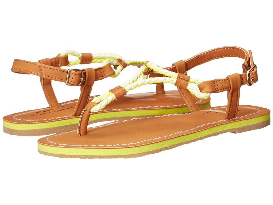 Polo Ralph Lauren Kids Alexis Little Kid/Big Kid Neon Citron Eva/Braided Thong Girls Shoes