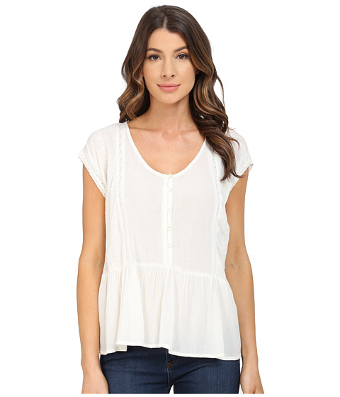B Collection by Bobeau Embrodiered Blouse