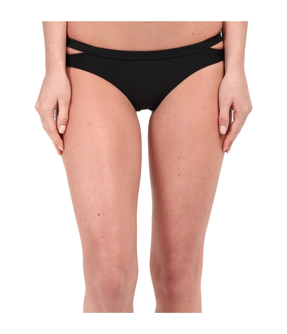 RVCA Seaward Cheeky Bottoms Black Womens Swimwear