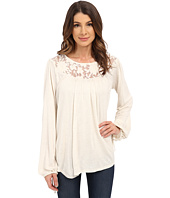 B Collection by Bobeau - Lace Yoke Blouse