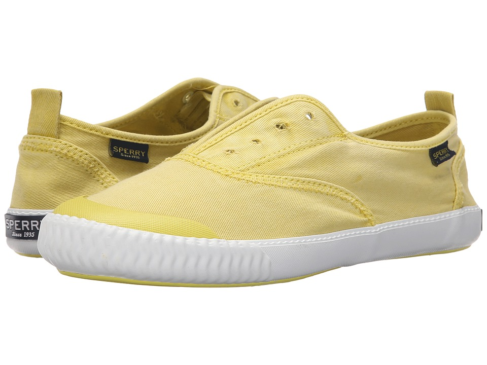Sperry Top Sider Sayel Clew Ox Washed Light Yellow Womens Lace up casual Shoes