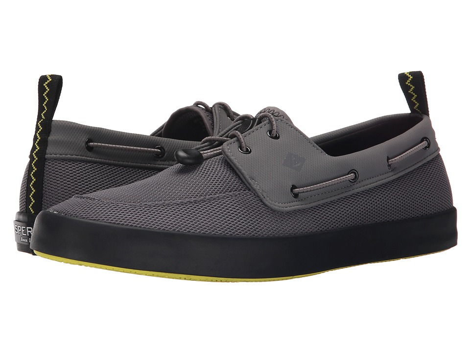 Sperry Top Sider Flex Deck Boat Grey Mens Lace up casual Shoes