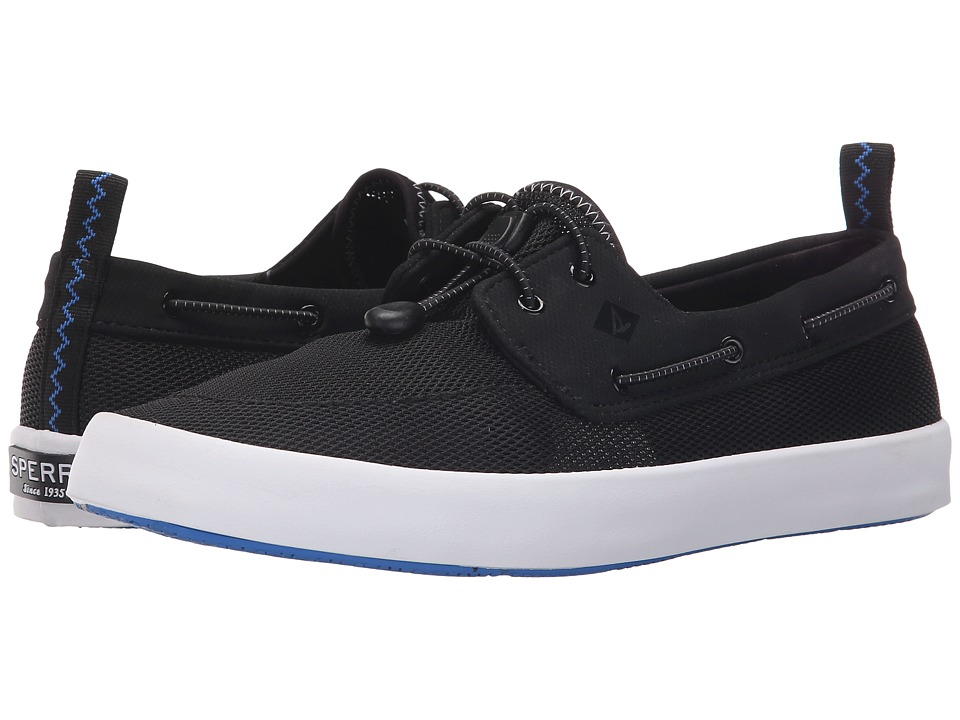 Sperry Top Sider Flex Deck Boat Black Mens Lace up casual Shoes