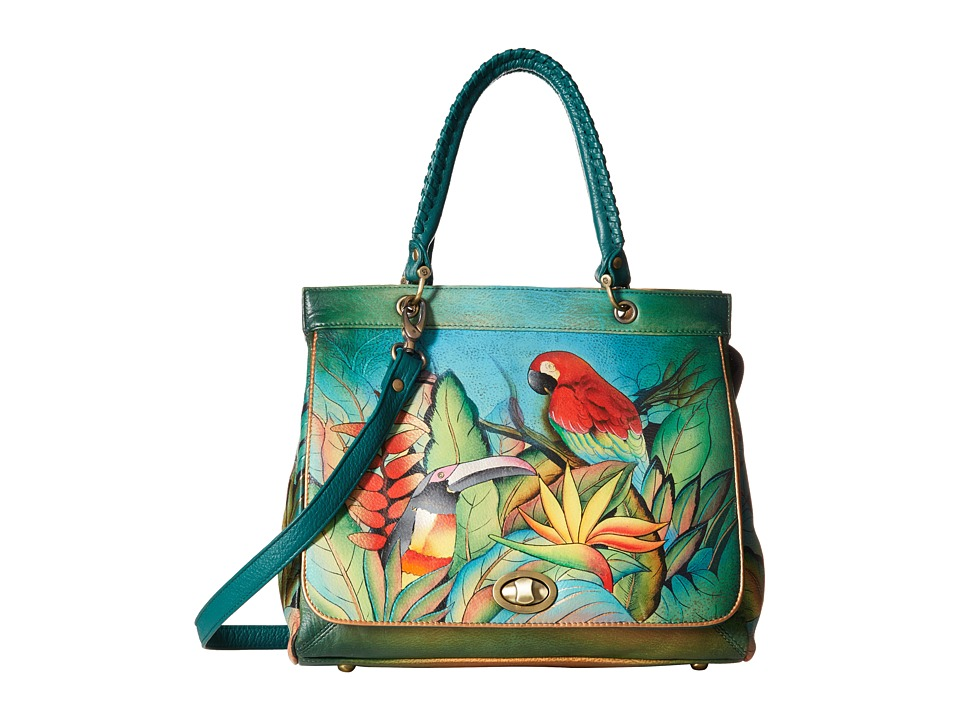 Anuschka Handbags - 563 (Tropical Bliss) Satchel Handbags