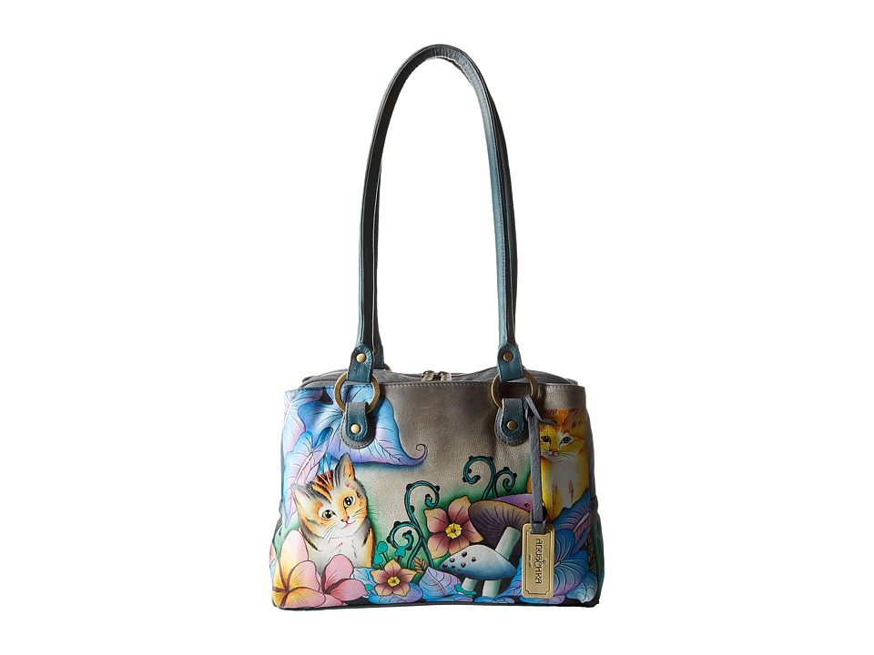 Anuschka Handbags - 545 (Cats In Wonderland) Handbags