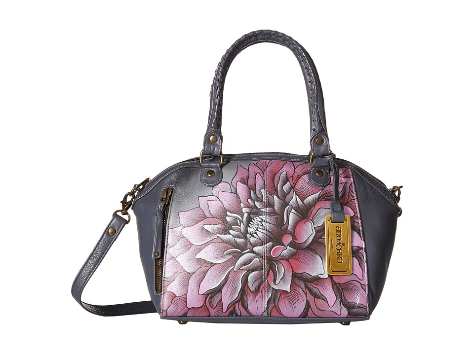 Anuschka Handbags - 561 (Dreamy Dahlias Pink) Tote Handbags